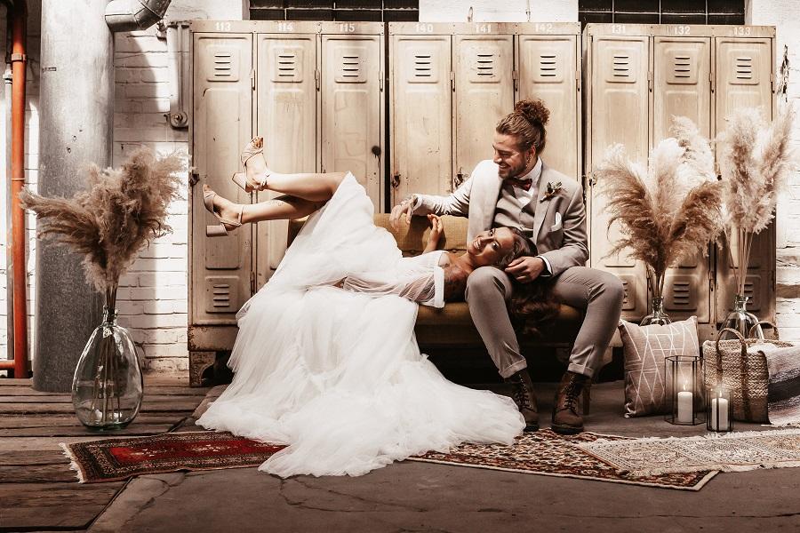 Hochzeitsdeko mieten - Dekoration für Industrial Wedding