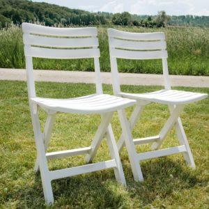 Klappbarer Hochzeitsstuhl weiß